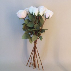 Artificial Roses Bouquet Blush Peach - R708 N1