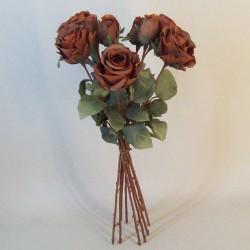 Artificial Roses Bouquet Chestnut Brown - R700 M1