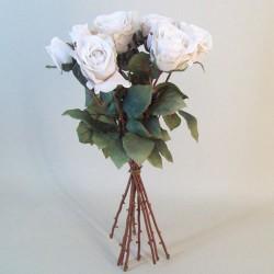 Artificial Roses Bouquet Cream Beige - R690 KK4