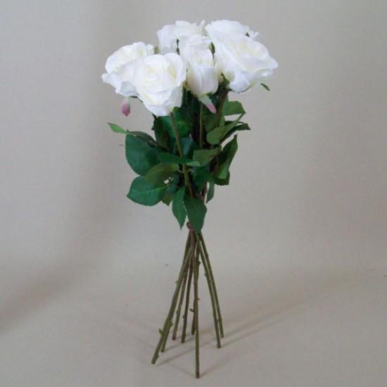 Artificial Roses Bouquet Cream - R488
