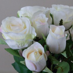 Artificial Roses Bouquet Cream with a hint of Pink - R497 N1