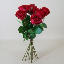 Artificial Roses Bouquet Red - R490