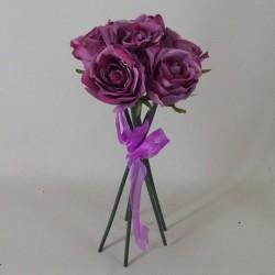 Artificial Roses Bouquet Vintage Aubergine - R506 L3