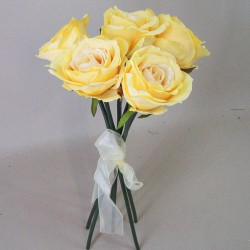 Artificial Roses Bouquet Vintage Yellow - R511 L3