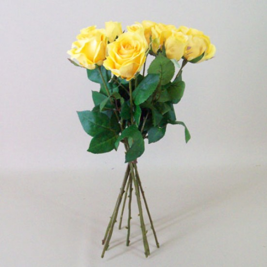 Artificial Roses Bouquet Yellow - R491 M1