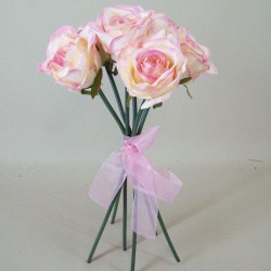 Artificial Roses Bouquet Blush Pink - R510 L4