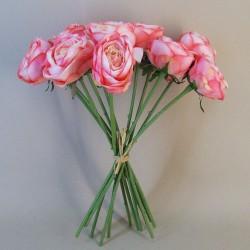 Artificial Roses Bouquet Strawberry Daiquiri x 12 - R534 KK4