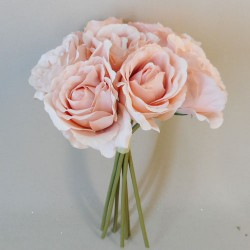Artificial Roses Bunch Blush Pink - R953 L1