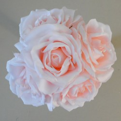 Artificial Roses Bunch Coral Pink - R354 L2