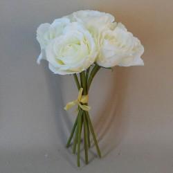 Artificial Roses Bunch Cream - R133 M1