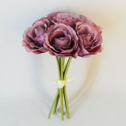 Artificial Roses Bunch Dusky Pink - R116 M1