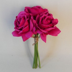 Artificial Roses Bunch Hot Pink - R597 AA3