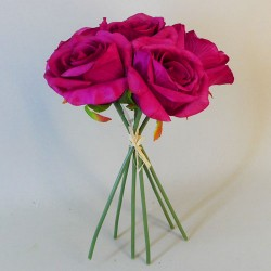 Artificial Roses Bunch Magenta Pink - R585 N1