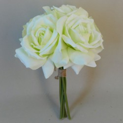 Artificial Roses Bunch Pale Green - R385 N2