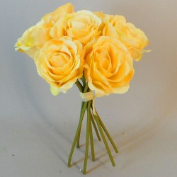 Artificial Roses Bunch Yellow - R110 L1
