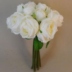 Artificial Roses Bundle Cream 15 Stems - R699 O4