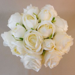 Artificial Roses Bundle Cream 15 Stems - R699 O4