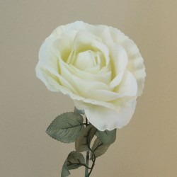 Artificial Roses Cream with Grey Green Leaves - R861 L2
