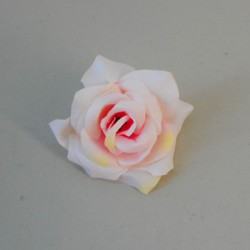 Artificial Roses Pink Peach Heads Only 8.5cm - R334
