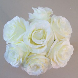 Artificial Roses Posy Cream - R565 P2