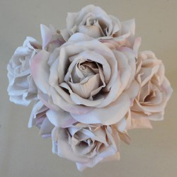 Artificial Roses Posy Earl Grey - R055 T1