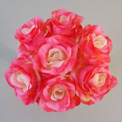 Artificial Roses Posy Pink Peach - R566 P2