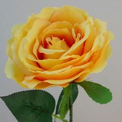 Artificial Rose Saffron Yellow - R559 M4