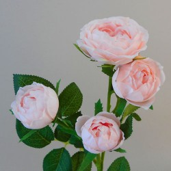 Artificial Roses Spray Blush Pink  - R948 R2