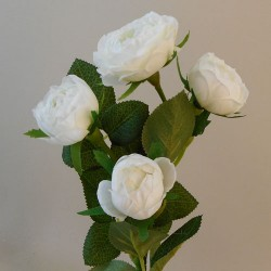 Artificial Roses Spray Ivory White  - R947 R2