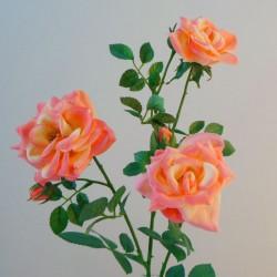 Artificial Roses Spray Peach - R148