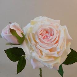 Artificial Roses Spray Pink Cream Supreme  - R946 S3