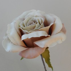 Artificial Roses Stem Blush Pink Peach no leaves - R652 P3