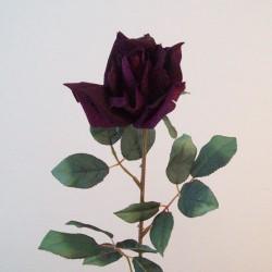 Artificial Tea Rose Aubergine Plum - R732 O2