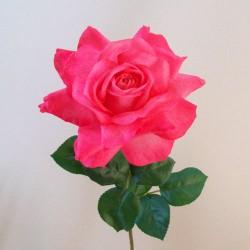 Artificial Tea Rose Bright Pink - R847 Q1