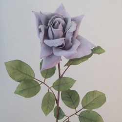 Artificial Tea Rose Lavender Grey - R704 Q4