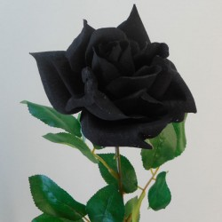 Artificial Tea Rose Black - R058