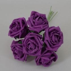Colourfast Cottage Foam Roses Bundle Aubergine 6 Pack - R461 U2