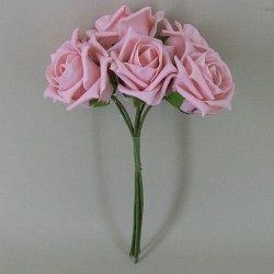 Colourfast Cottage Foam Roses Bundle Vintage Pink 6 Pack - R343a U1