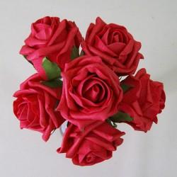 Colourfast Cottage Foam Roses Bundle Red 6 Pack - R492 U2