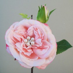 Crystal Gem Cabbage Rose Pink - R746 P2