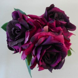Artificial English Roses Bundle Burgundy - R644 KK3