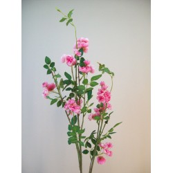 Extra Large Wild Artificial Roses Branch Pink - R601 BX2