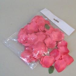 Fabric Rose Petals Coral Pink - R622