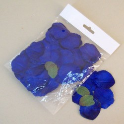 Fabric Rose Petals Royal Blue - R623