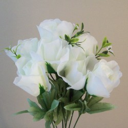 Fleur Artificial Rose Bouquet Cream - R828 U1