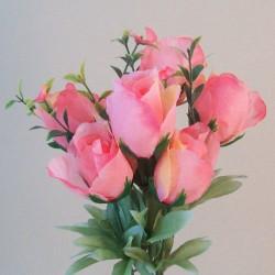 Fleur Artificial Rose Bouquet Pink - R829 BX12
