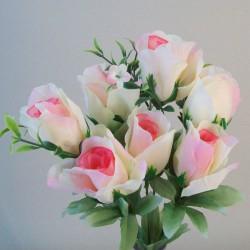 Fleur Artificial Rose Bouquet Pink and Cream - R830 U1