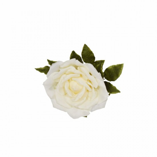 Giant Artificial Roses Cream No Stem 37cm | VM Display Prop or Wall Decoration - R899
