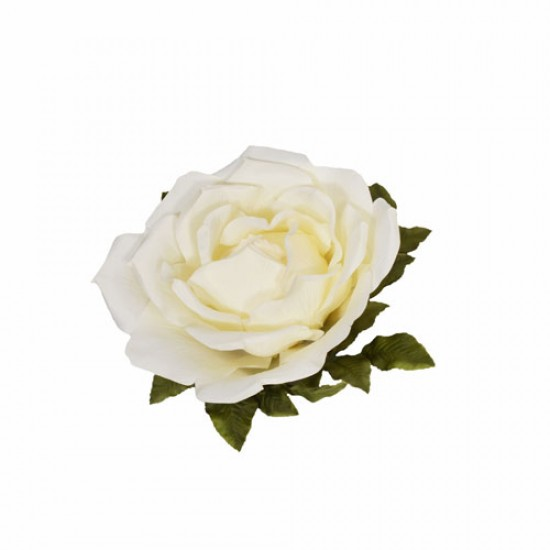 Giant Artificial Roses Cream No Stem 50cm | VM Display Prop or Wall Decoration - R900