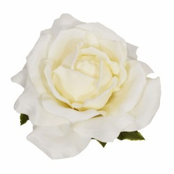 Giant Artificial Roses Cream No Stem 75cm | VM Display Prop or Wall Decoration - R901